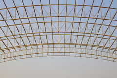 Steel Structure. On construction site Royalty Free Stock Photos