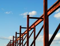 Steel structure stock image