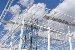 Steel Structure Background / Steel Structure / Steel Structure Under Construction Royalty Free Stock Photo