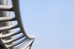 Steel structure with blue sky Stock Photography