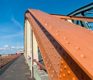 Steel structure of a bridge Royalty Free Stock Images