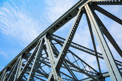 Steel structure bridge closeup Stock Image