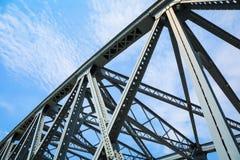 Steel structure bridge closeup Stock Image