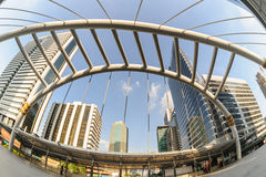 Steel structure bridge in metropolis, Thailand. Stock Photography