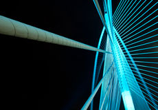 Steel structure of a bridge Stock Photos