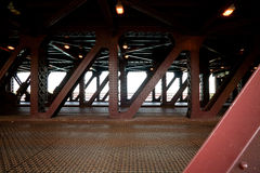 Steel structure of the bridge Stock Image