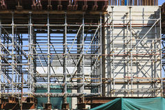 Steel structure in Building Construction site Royalty Free Stock Images