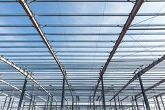 Steel structure building Stock Photo