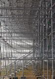 Steel structure of construction scaffolding. 2013 Royalty Free Stock Photography