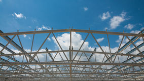 Steel structure construction site Stock Images