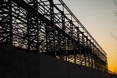 Construction of steel structure Stock Photography