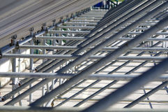 Steel structure. Designed to support benches Royalty Free Stock Image