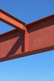 Steel structure erection. Steel structure erection, Beam girder royalty free stock photography