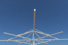 Steel structure erection. Steel structure erection for roofing shell Royalty Free Stock Image
