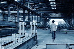 Steel structure factory Stock Photo