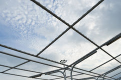 Steel structure framework Royalty Free Stock Images