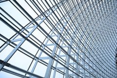 Steel structure and glass roof Stock Photo