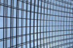 Steel structure and glass roof. Ethmoid roof of glass, steel structure Stock Images