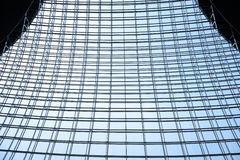 Steel structure and glass roof Stock Image