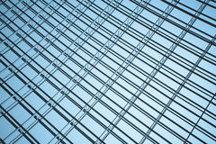 Steel structure of the glass wal Royalty Free Stock Photos