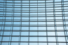 Steel structure of the glass wal Royalty Free Stock Photo