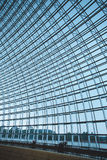 Steel structure of the glass wal Stock Photography