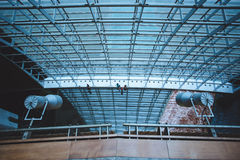 Steel structure of the glass wall Royalty Free Stock Image