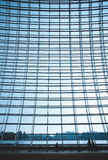 Steel structure of the glass wall Stock Photography
