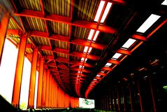 Steel structure,highway,Soundproof screen royalty free stock photos