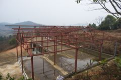 Steel structure houses built Stock Photo