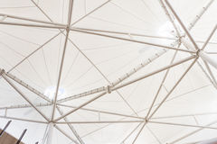 Steel structure of modern building roof Stock Images