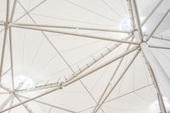 Steel structure of modern building roof Stock Photo