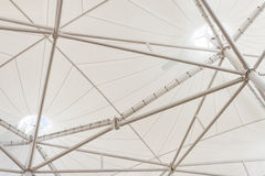 Steel structure of modern building roof Royalty Free Stock Photo