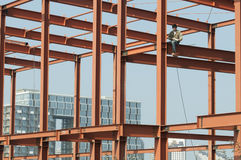 Steel structure painting Stock Photos
