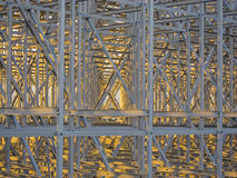 Steel structure pattern. At dusk Royalty Free Stock Photography