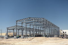 Steel structure of the plant. Use steel structure built the plant Stock Photography