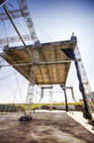 Steel structure. Ready for a show.Sunny summer day Royalty Free Stock Photography