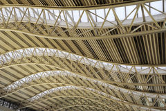 Steel structure  roof. In the air terminal Stock Image