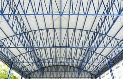 Steel structure roof of factory Stock Photography