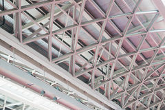 Steel structure roof Royalty Free Stock Photo