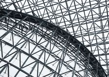 Steel Structure Roof pattern Architecture details Modern building stock photos