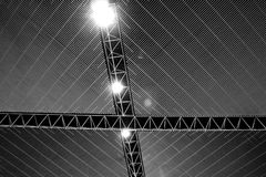 Steel structure roof straight lines. ceiling lights. Steel structure roof straight lines and ceiling lights Royalty Free Stock Image