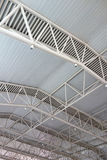 Steel structure  roof. At the train station Stock Photo