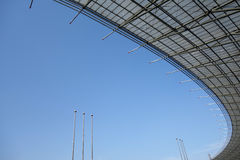 Steel structure  roof. Under blue sky Stock Photography