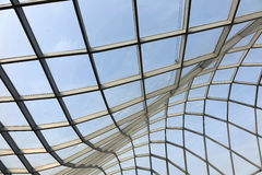 Steel structure  roof. Under blue sky Stock Image