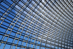 Steel structure  roof. Under blue sky Stock Photo