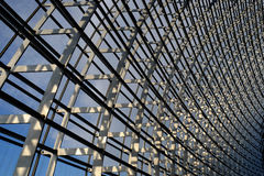 Steel structure  roof. Under blue sky Stock Photos