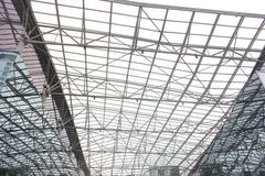 The steel structure roof Stock Images