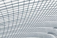 Steel structure roofing frame, Abstract background.  Royalty Free Stock Images