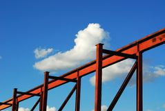 Steel structure and sky Royalty Free Stock Photo